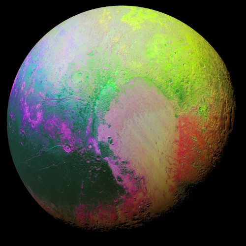 Colorful NASA Image Shows Off Pluto's Psychedelic Side