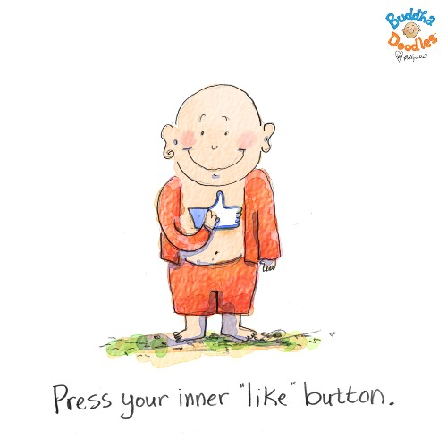 Press Your Inner Like Button: Today's Buddha Doodle