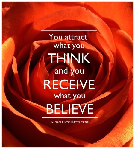Thought seeds - You attract what you think and receive what you believe.