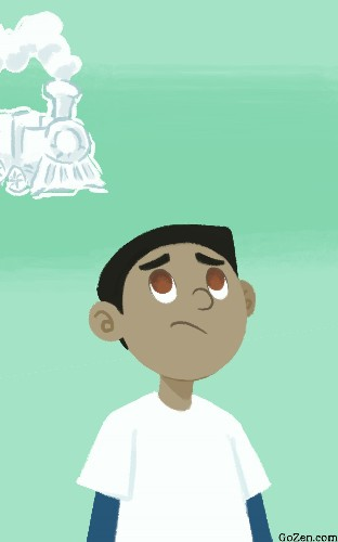 Teach Your Child How To Observe A Train of Anxious Thoughts (Illustrated)