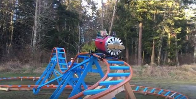Navy Pilot Builds Awesome Backyard Roller Coaster For 3-Year-Old Son | HuffPost Life