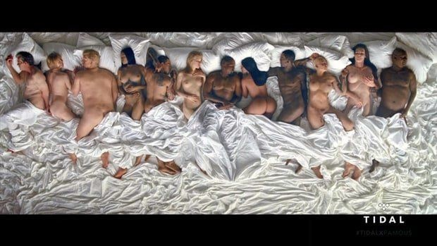 Kanye West Sleeps Off Orgy With Taylor Swift And Donald Trump In 'Famous' Music Video