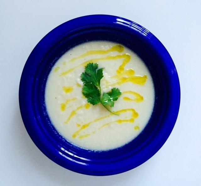 Vegan Roasted Cauliflower Soup