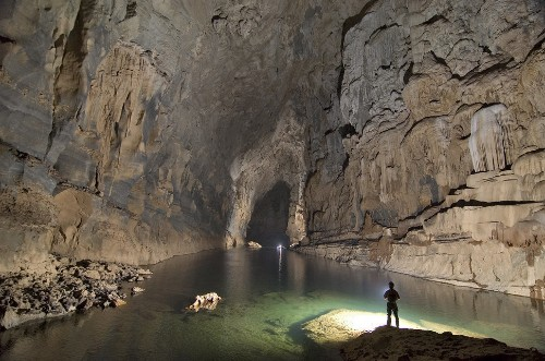 This Mega-Size River Cave In Laos Is Stunning To Explore Via Kayak