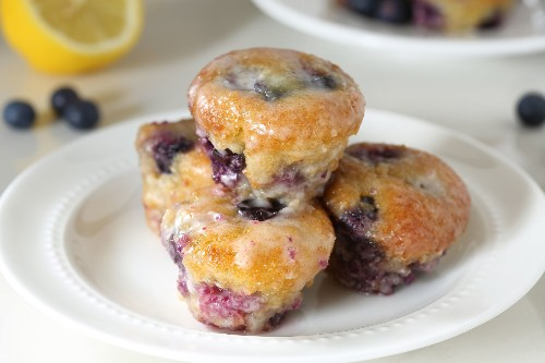 Delectable Mini Gluten-Free Lemon Blueberry Muffins