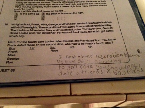 Fourth Grader Shuts Down Math Problem By Invoking Girl Code | HuffPost Life