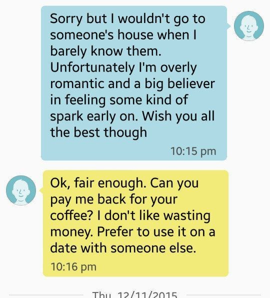 Woman Shuts Down Dude Who Demanded $5 Back For Coffee Date