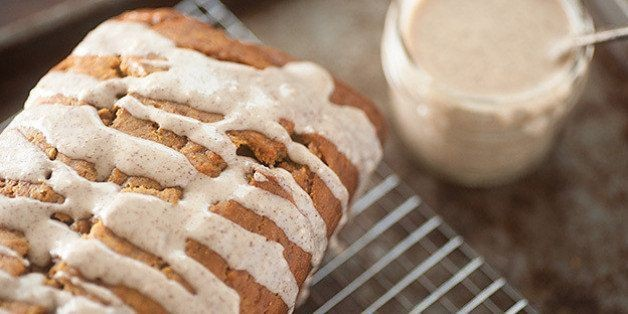 Pumpkin Bread With Browned Butter Drizzle   HuffPost Life