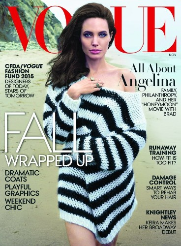 Angelina Jolie's 5th Vogue Cover Is Her Most Natural Yet   HuffPost Life