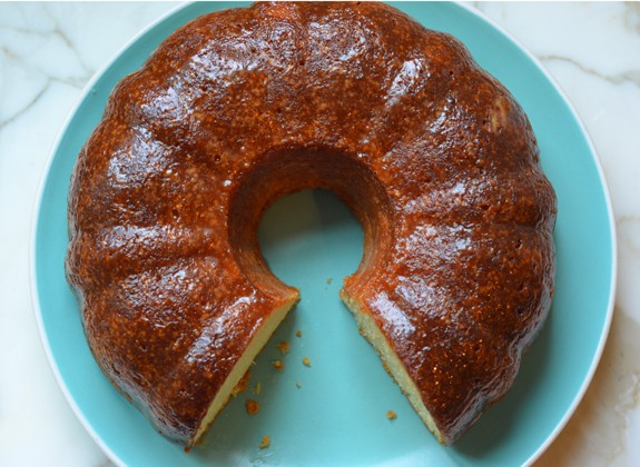 A Boozy Butter And Rum Soaked Pound Cake