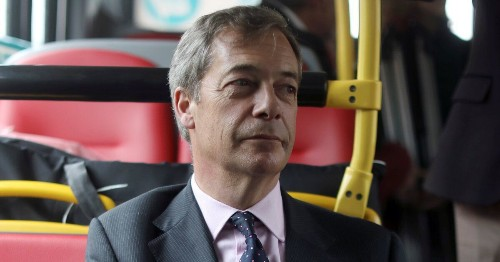 Nigel Farage 'Refused To Get Off A Bus' After Men With Milkshakes Spotted