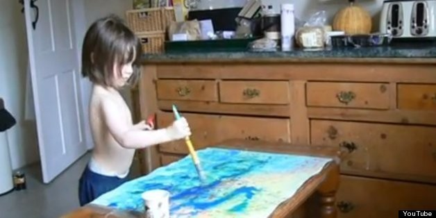 Iris Halmshaw, 3-Year-Old With Autism, Can't Talk; But Her Beautiful Paintings Sell For Hundreds