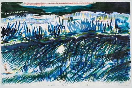 Raymond Pettibon's Surf Paintings Are Pure Punk Poetry