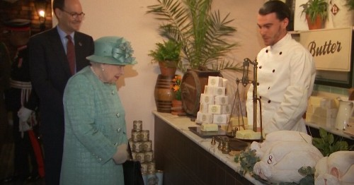 Queen Pops Over To Sainsbury's