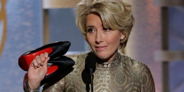 Emma Thompson Throwing Her Shoes At The Golden Globes Was The Best Thing Ever