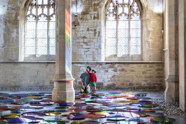 Artist Transforms 19th Century Church Into Stunning Kaleidoscope Of Color