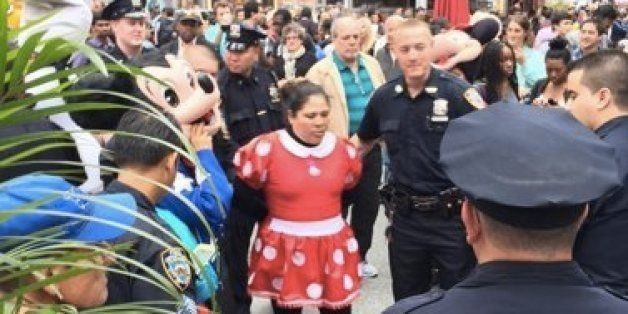 Minnie Mouse And Hello Kitty Arrested In Times Square Brawl