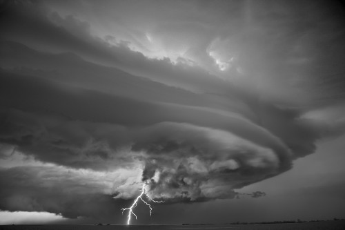 Gorgeous Black-And-White Storm Photos Will Make You Feel Really, Really Small