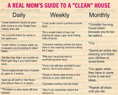 Mom Creates Hilariously Honest Guide To Cleaning | HuffPost Life