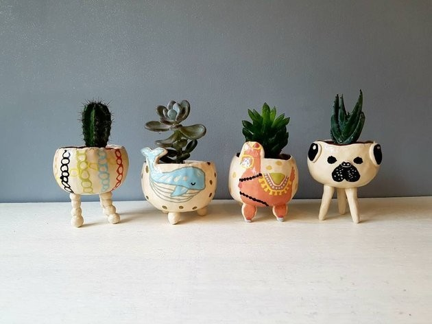 11 Tiny Planters On Etsy For All Your Plant Babies