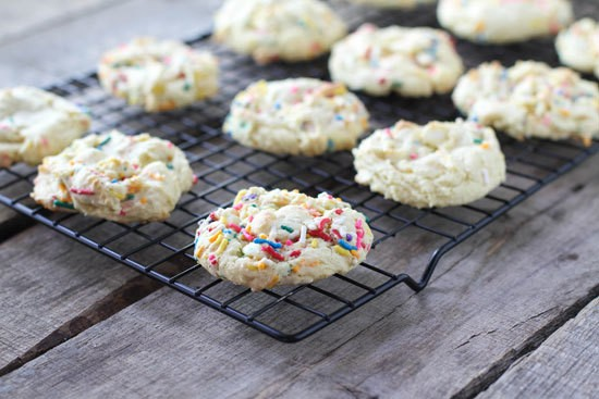 Cake Batter Cookies With Sprinkles