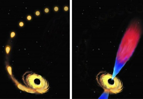 Black Hole Eats A Star The Size Of Our Sun... And Burps