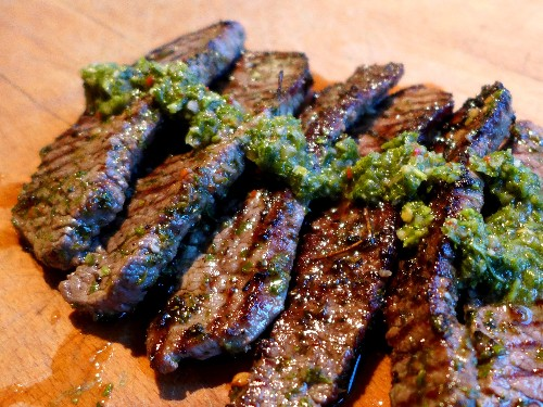 Minute Steaks with Chimichurri