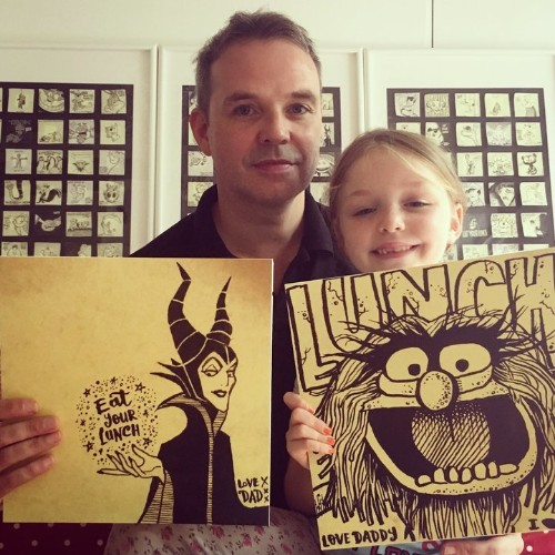 Dad Draws Awesome Post-It Note Illustrations For Daughter's Lunchbox   HuffPost Life