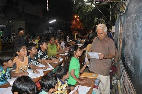 Man Starts Street School To Teach Kids From Slum To Read And Write