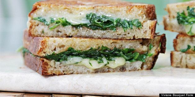 Grilled Cheese Sandwich With Garlic Confit and Baby Arugula | HuffPost Life