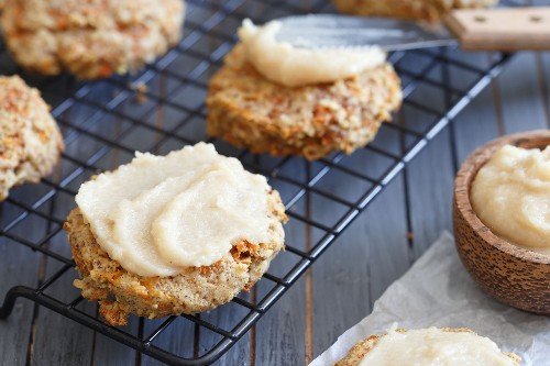 Healthy and Frosted (!) Paleo Carrot Cake Cookies