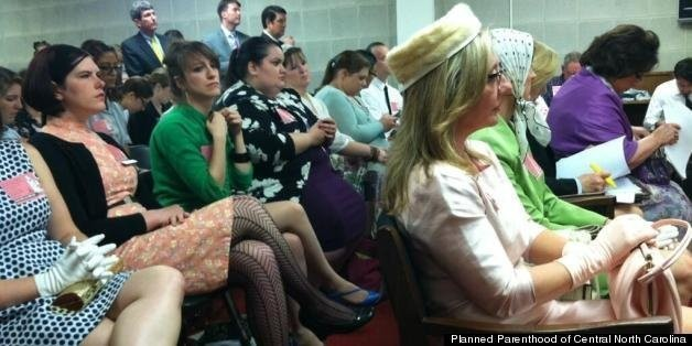 North Carolina Birth Control Bill Protested By Women In 'Mad Men' Garb