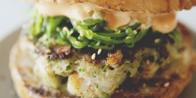 A Kitchy Kitchen Recipe: Shrimp Burgers With Wakame Slaw | HuffPost Life