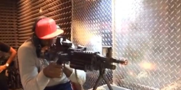 LeBron Visited A Gun Range With His Wife And Fired A Huge Machine Gun (VIDEOS)