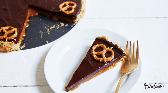 This Chocolate-Caramel Pretzel Tart Is About To Make You Extremely Popular