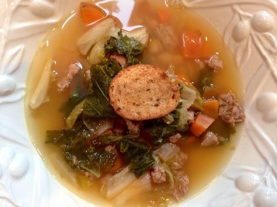 Escarole, Kale, and Sweet Potato Crockpot Soup: A Heart-Healthy Satisfying Meal