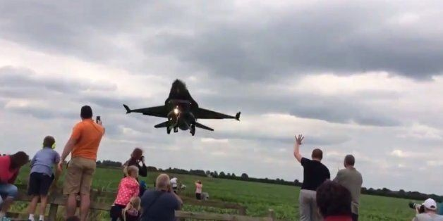F-16 Jet Flies WAY Too Close On Video, Everyone Loses Their Heads About It (VIDEO)