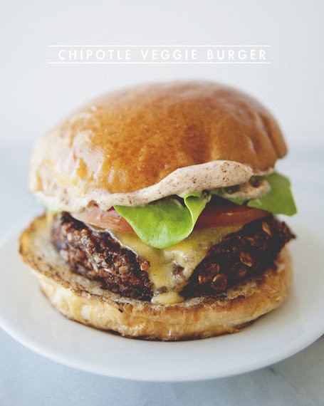 A Kitchy Kitchen Recipe: Chipotle Veggie Burger