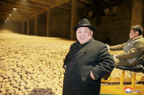 Kim Jong Un Posing With Millions Of Spuds Sparks Photo-Editing Battle