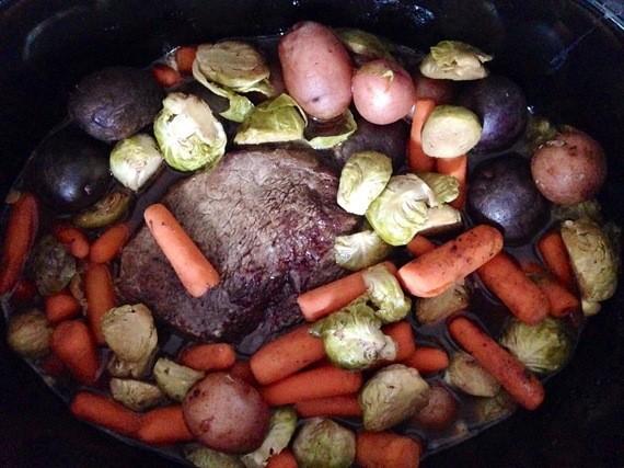 Skinny Steak Stew in the Crockpot