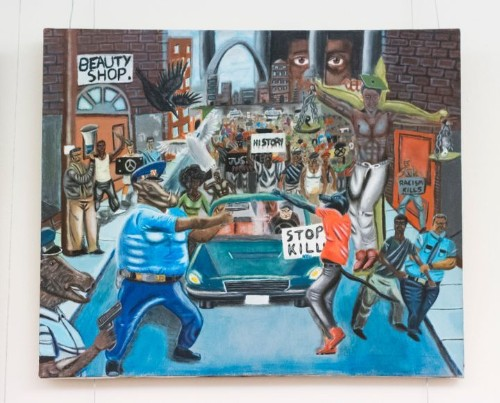 The Painting Depicting Cops As Pigs Is Back On The Capitol Wall ... AGAIN