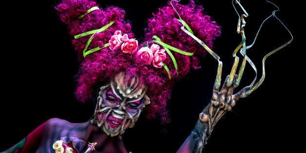 Partially Nude Bodies Transformed Into Vivid Masterpieces At World Bodypainting Festival 2014