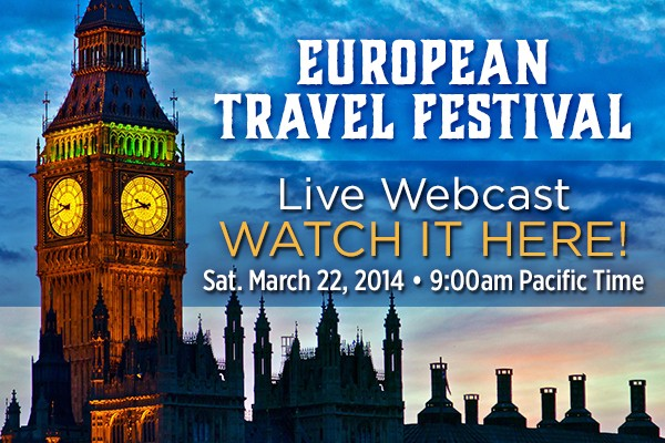 My New Travel Lectures: Streaming for Free LIVE on March 22
