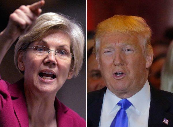 Elizabeth Warren Unleashes A Tweetstorm At 'Weak' Donald Trump