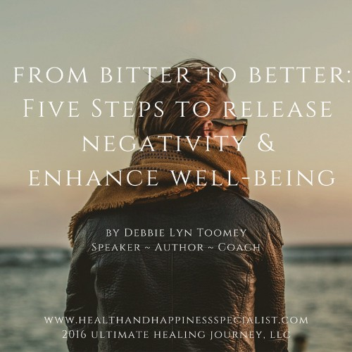 From Bitter To Better: 5 Steps To Release Negativity And Enhance Well-Being