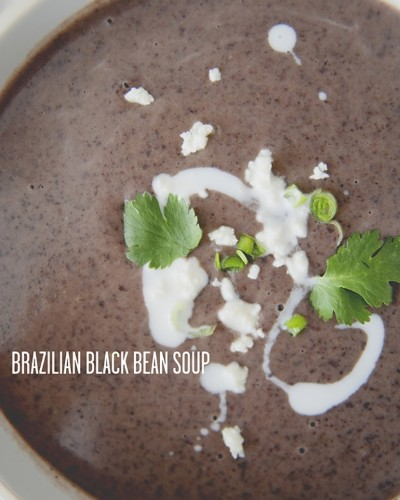 Healthy and Easy: Brazilian Black Bean Soup From The Kitchy Kitchen