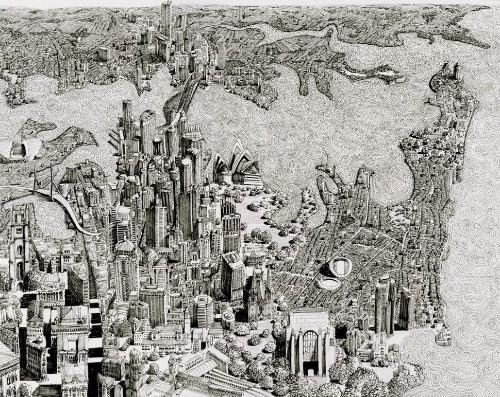 10 Wildly Detailed Drawings Of Fictional Cityscapes That Will Make Your Head Spin