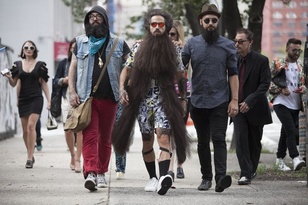 A Giant Man Bun And Beard Took Over New York Fashion Week