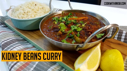 Kidney Beans Curry (Rajma Curry) | Indian Cooking Recipes | #CookwithAnisa #recipeoftheday