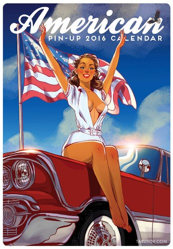 This All-American Pin-Up Calendar Is Red, White And Boobs